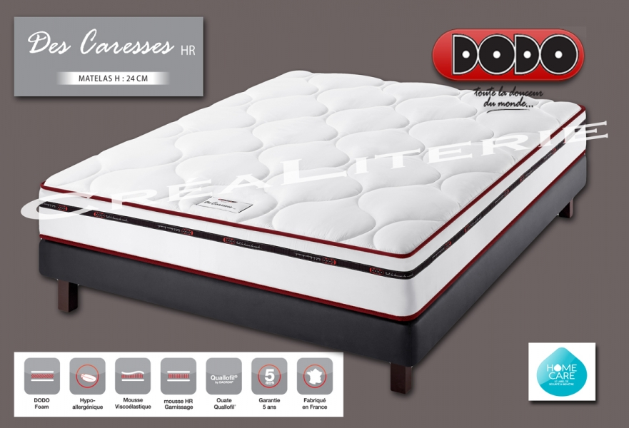 matelas dodo des caresses hr 24 cm mousse m moire de forme soutien ferme accueil douillet. Black Bedroom Furniture Sets. Home Design Ideas