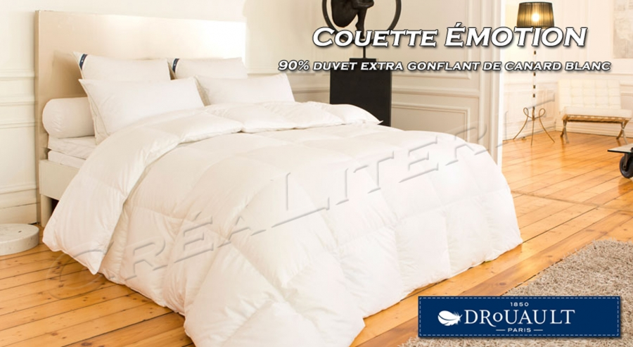 couette drouault motion 270 g m naturel duvet de canard blanc anti acariens proneem. Black Bedroom Furniture Sets. Home Design Ideas