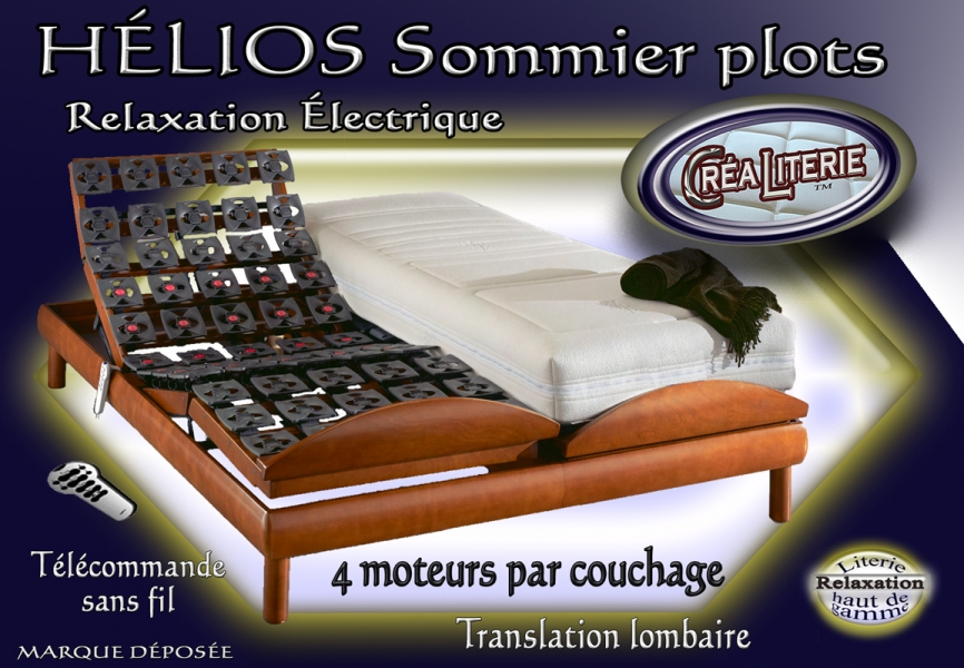 ensemble literie f ro h lios relaxation lectrique dos reculant rubrique ensembles matelas et. Black Bedroom Furniture Sets. Home Design Ideas