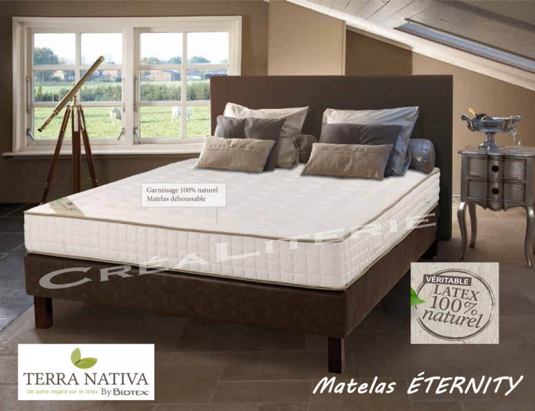 matelas biotex 140x190 ternity 23 cm 100 latex naturel. Black Bedroom Furniture Sets. Home Design Ideas