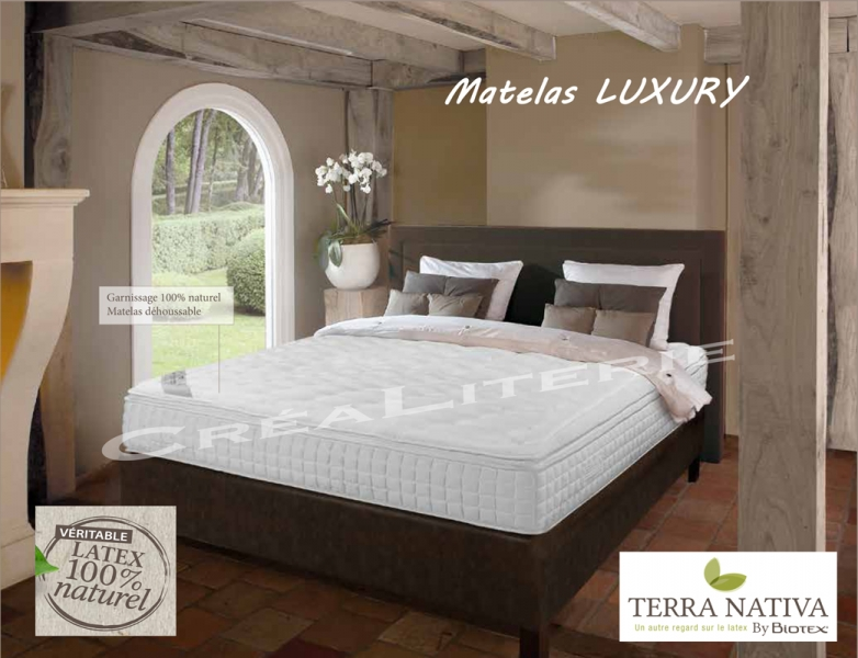 matelas biotex 160x200 luxury 26 cm 100 latex naturel. Black Bedroom Furniture Sets. Home Design Ideas