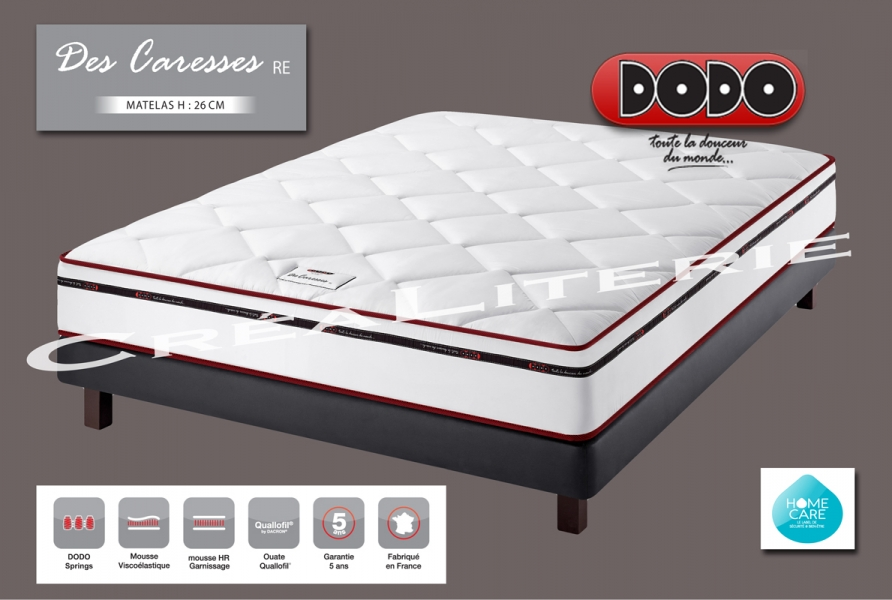 matelas dodo des caresses re 26 cm mousse m moire de forme ressorts ensach s soutien ferme. Black Bedroom Furniture Sets. Home Design Ideas
