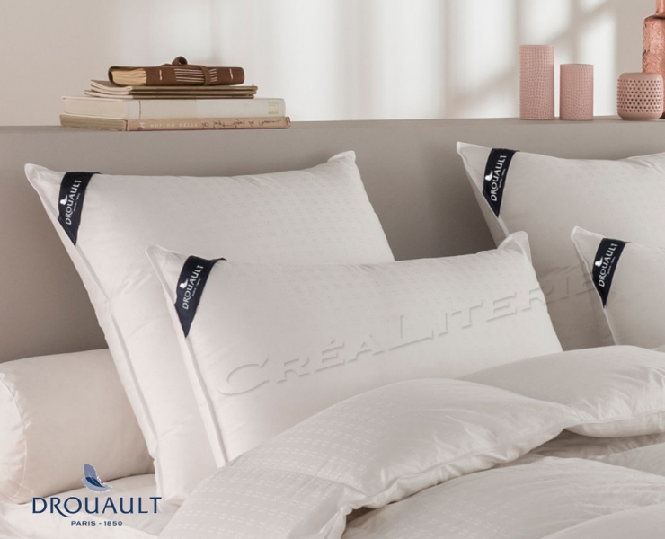 oreiller drouault platinium en duvet d 39 oie blanc des neiges de sib rie fabrication fran aise. Black Bedroom Furniture Sets. Home Design Ideas