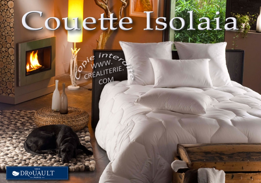 couette drouault isolaia light 175 g m fibre creuse siliconn e sup rieure ultra gonflante. Black Bedroom Furniture Sets. Home Design Ideas