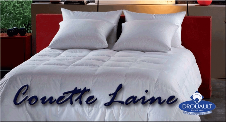 couette laine de drouault 400 g m en laine vierge naturelle rubrique couettes cr aliterie. Black Bedroom Furniture Sets. Home Design Ideas