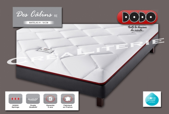 matelas dodo des c lins re 18 cm ressorts ensach s accueil douillet soutien ferme fabrication. Black Bedroom Furniture Sets. Home Design Ideas