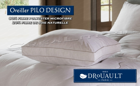 oreiller drouault pilo design fibre microfibre fibre de soie naturelle fabrication fran aise. Black Bedroom Furniture Sets. Home Design Ideas