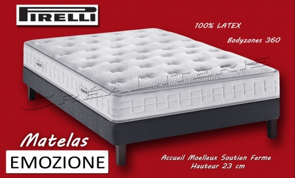 matelas pirelli emozione 23 cm latex bodyzones 360 accueil moelleux soutien ferme fabrication. Black Bedroom Furniture Sets. Home Design Ideas