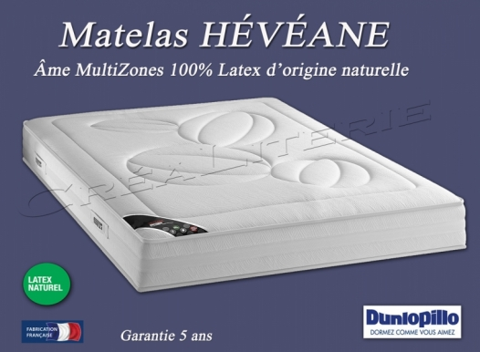 Matelas dunlopillo h v ane 21 cm latex d 39 origine naturelle me multizones - Dunlopillo latex naturel ...