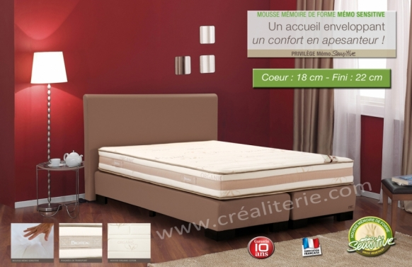 matelas biotex privil ge visco v g tale huile de ricin m moire de forme coutil bambou. Black Bedroom Furniture Sets. Home Design Ideas