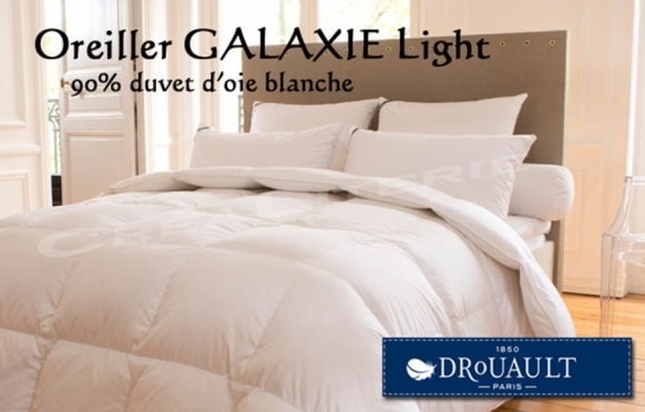 oreiller drouault galaxie light naturel en duvet oie sup rieure extra gonflant fabrication. Black Bedroom Furniture Sets. Home Design Ideas