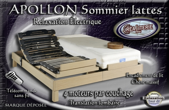 ensemble literie f ro apollon relaxation lectrique dos reculant rubrique ensembles matelas. Black Bedroom Furniture Sets. Home Design Ideas