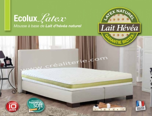 matelas biotex colux latex v g tale naturel 7 zones de confort densit 80 kg m3 housse bio. Black Bedroom Furniture Sets. Home Design Ideas