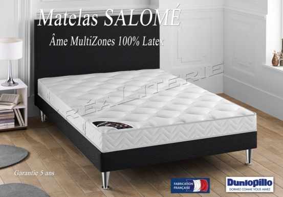 matelas dunlopillo salom 17 cm latex me multizones accueil tonique soutien tr s ferme. Black Bedroom Furniture Sets. Home Design Ideas