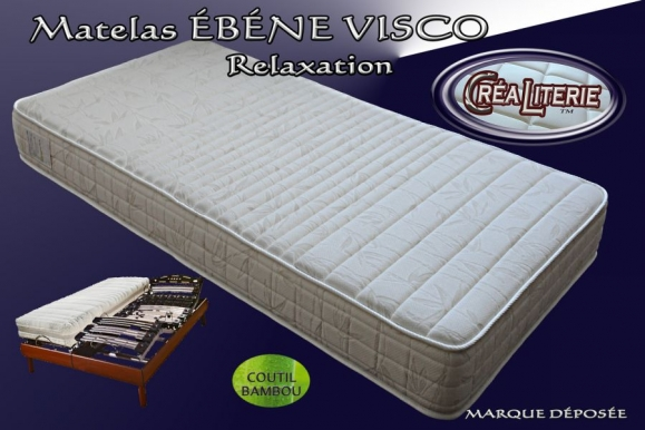 matelas b ne visco relaxation m moire de forme coutil bambou rubrique matelas relaxation. Black Bedroom Furniture Sets. Home Design Ideas