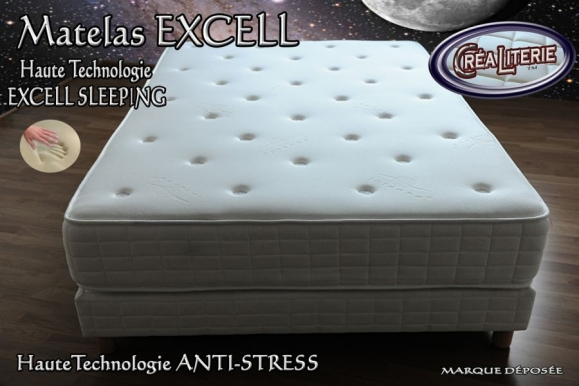 matelas excell extra ferme m moire de forme technologie. Black Bedroom Furniture Sets. Home Design Ideas