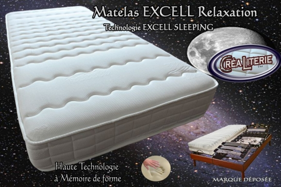 Matelas excell extra ferme relaxation m moire de forme - Matelas memoire de forme fabrication francaise ...