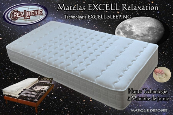 matelas excell extra ferme relaxation m moire de forme technologie anti stress rubrique. Black Bedroom Furniture Sets. Home Design Ideas