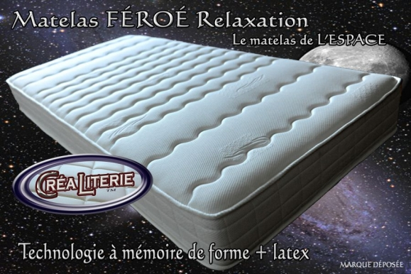 matelas f ro relaxation m moire de forme latex 84 kg m multizones micro perfor rubrique. Black Bedroom Furniture Sets. Home Design Ideas