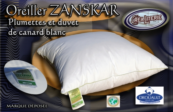 oreiller drouault zanskar naturel duvet de canard blanc extra gonflant fabrication fran aise. Black Bedroom Furniture Sets. Home Design Ideas