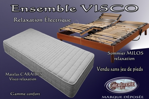 ensemble literie visco relaxation lectrique matelas sommier rubrique ensembles literie. Black Bedroom Furniture Sets. Home Design Ideas