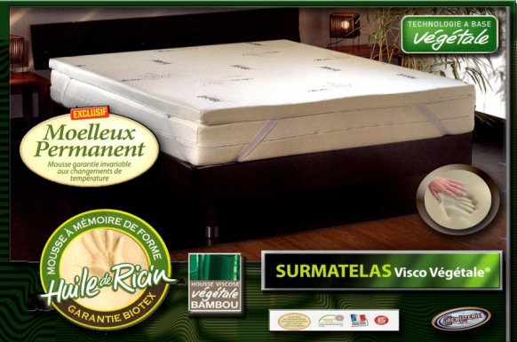 surmatelas m moire de forme biotex memo sensitive. Black Bedroom Furniture Sets. Home Design Ideas