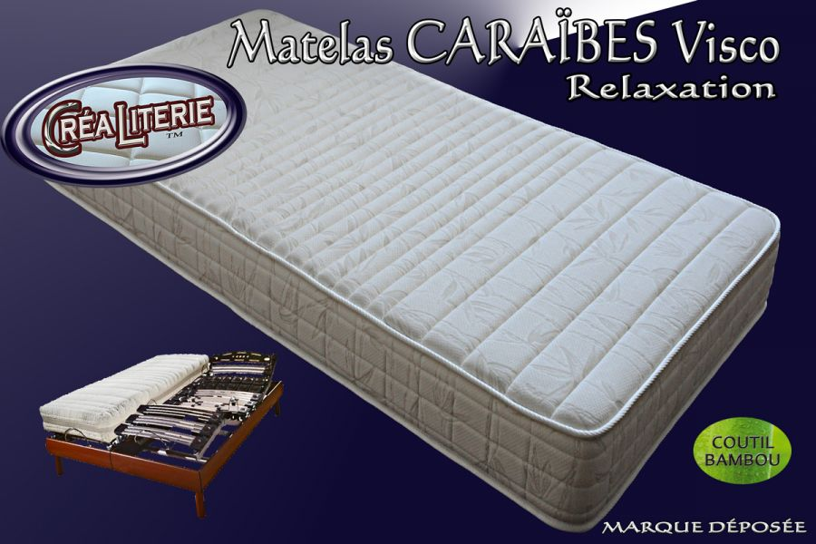 matelas cara bes visco relaxation m moire de forme coutil bambou rubrique matelas relaxation. Black Bedroom Furniture Sets. Home Design Ideas