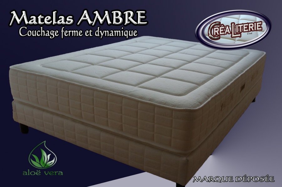 matelas ambre 140x190 en mousse polyur thane haute densit coutil alo v ra fabrication. Black Bedroom Furniture Sets. Home Design Ideas