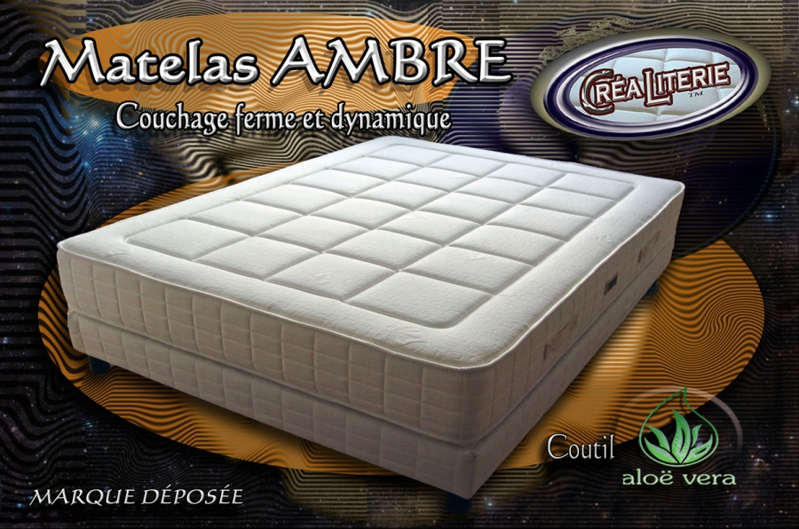 matelas ambre 90x190 matelas mousse polyur thane haute densit coutil alo v ra rubrique. Black Bedroom Furniture Sets. Home Design Ideas