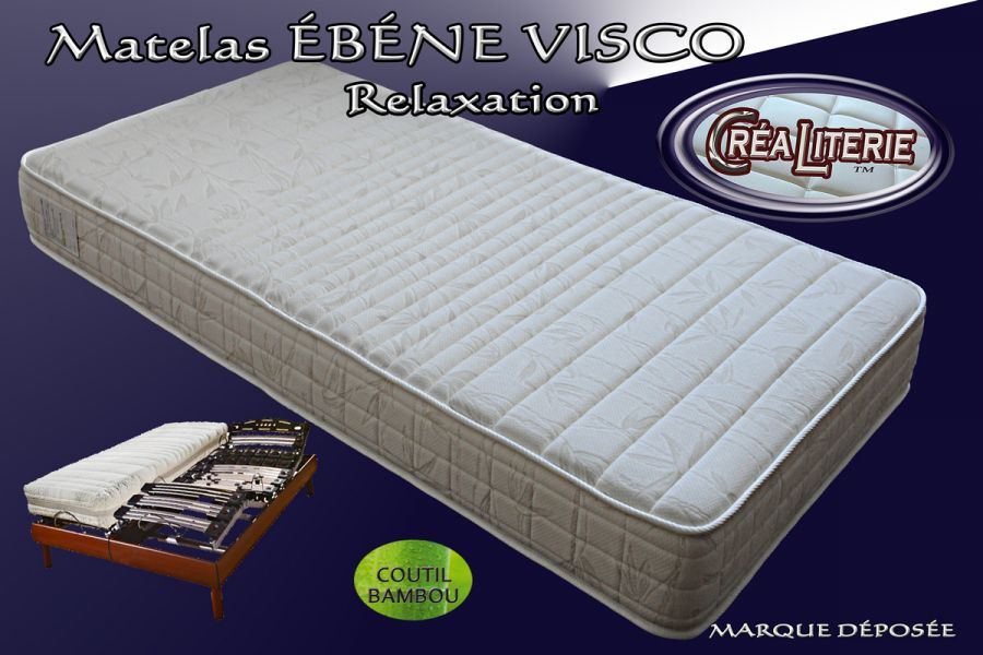 matelas b ne visco relaxation m moire de forme coutil. Black Bedroom Furniture Sets. Home Design Ideas