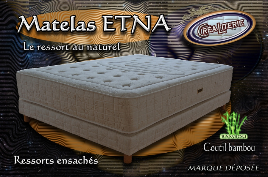 matelas etna ressorts ensach s coutil bambou fabrication fran aise rubrique matelas ressorts. Black Bedroom Furniture Sets. Home Design Ideas