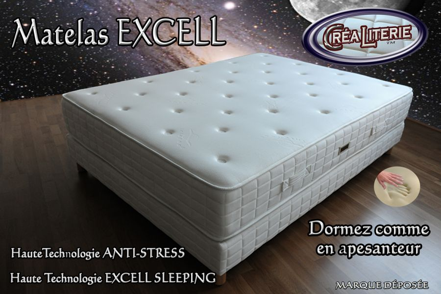 matelas excell ferme m moire de forme technologie anti stress rubrique matelas haute. Black Bedroom Furniture Sets. Home Design Ideas