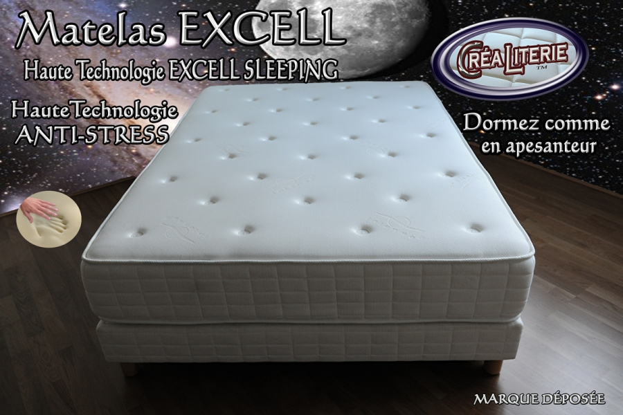 matelas excell soft 140x190 viscorelax mousse m moire de forme technologie anti stress. Black Bedroom Furniture Sets. Home Design Ideas