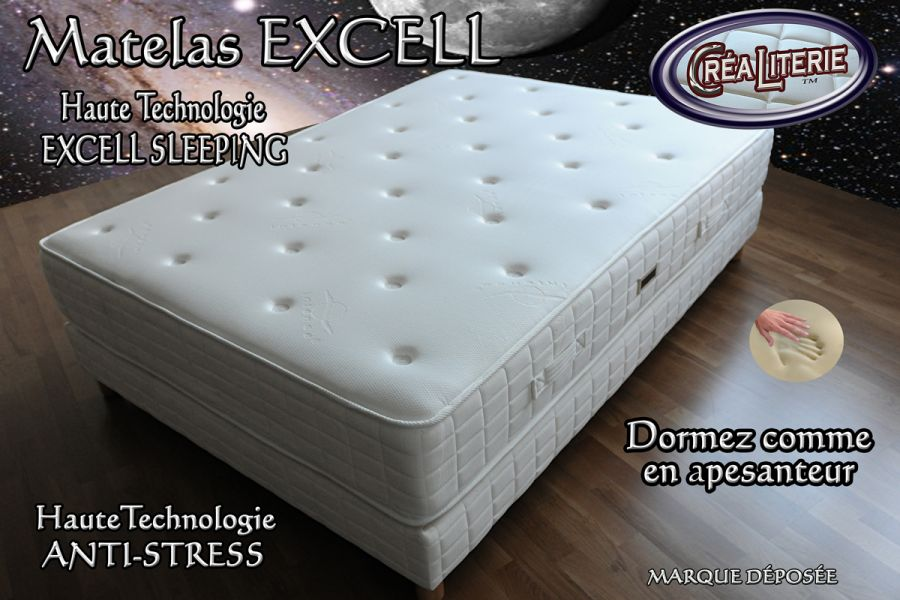 matelas excell extra ferme m moire de forme technologie anti stress rubrique matelas haute. Black Bedroom Furniture Sets. Home Design Ideas