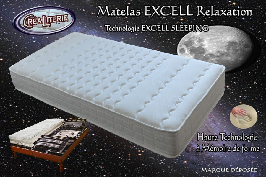 matelas excell m dium relaxation m moire de forme technologie anti stress rubrique matelas. Black Bedroom Furniture Sets. Home Design Ideas