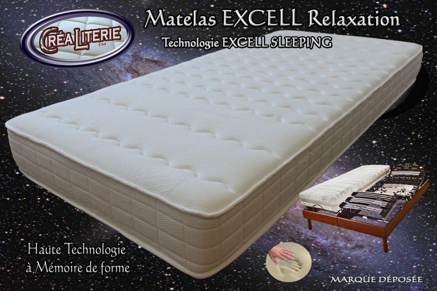 matelas excell soft relaxation m moire de forme technologie anti stress rubrique matelas haute. Black Bedroom Furniture Sets. Home Design Ideas