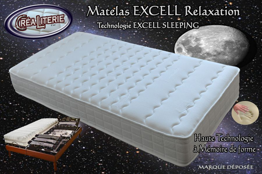 matelas excell ferme relaxation m moire de forme technologie anti stress rubrique matelas. Black Bedroom Furniture Sets. Home Design Ideas