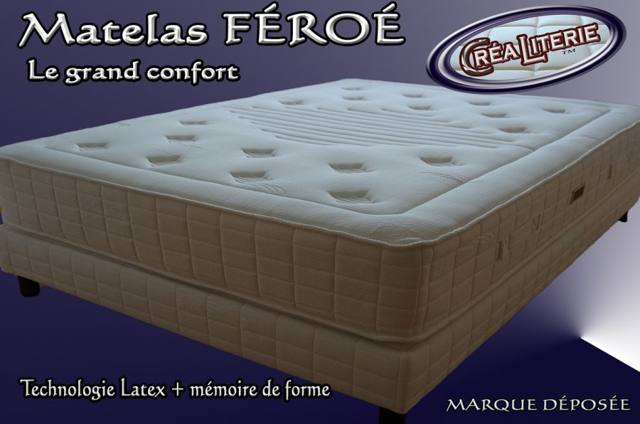 matelas f ro latex multizones micro perfor 84 kg m3 visco lastic m moire de forme. Black Bedroom Furniture Sets. Home Design Ideas