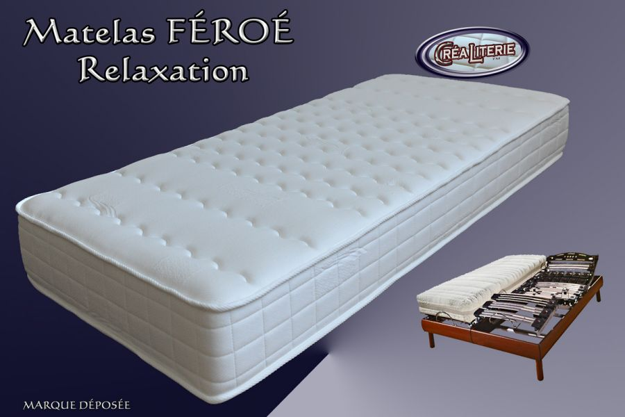 matelas f ro relaxation m moire de forme latex 84 kg. Black Bedroom Furniture Sets. Home Design Ideas