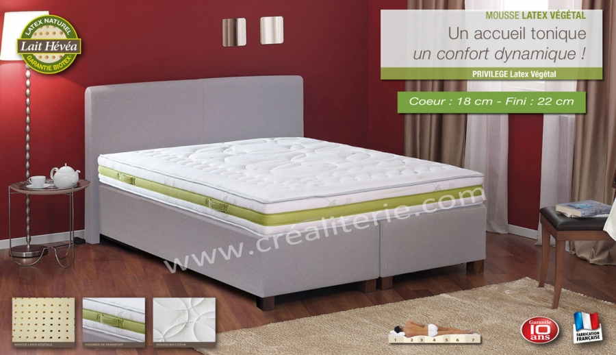 matelas latex naturel privil ge latex biotex v g tale naturel multizones densit 80 kg m3 housse. Black Bedroom Furniture Sets. Home Design Ideas