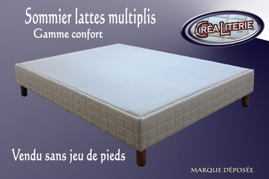 sommier tapissier lattes multiplis hauteur 15 cm rubrique sommiers fixe cr aliterie matelas. Black Bedroom Furniture Sets. Home Design Ideas